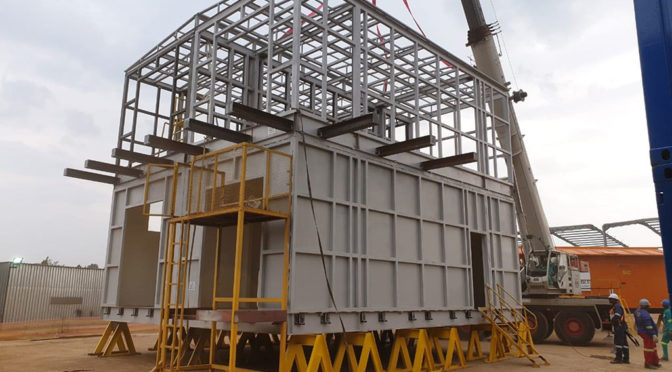 MULTI-LEVEL E-HOUSE FROM SHAW CONTROLS FOR OIL & GAS SECTOR