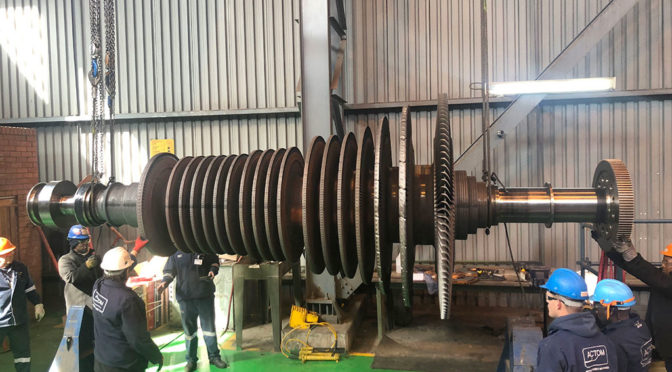 TURBINE DRIVE TRAIN OVERHAULED IN JUST SIX WEEKS