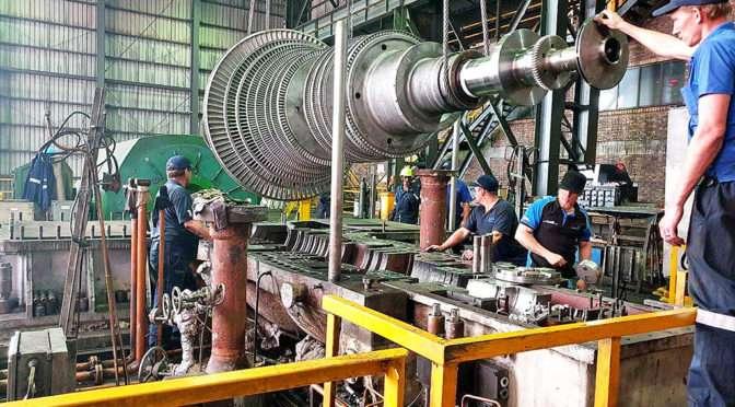 QUICK REPAIR PUTS ARCELORMITTAL TURBINE GENERATOR BACK TO WORK