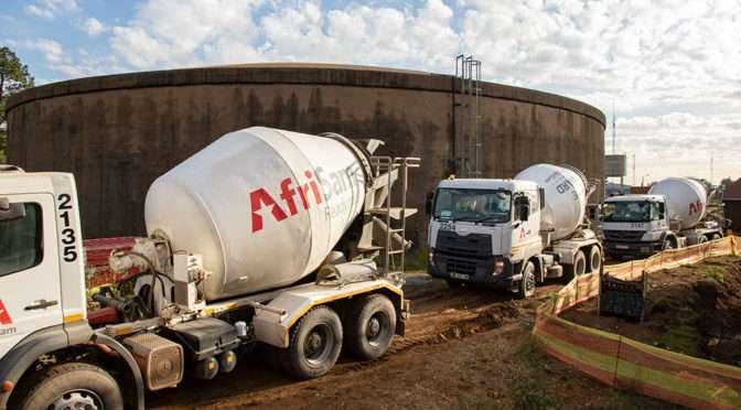 AFRISAM READYMIX FACILITATES DURABLE CONSTRUCTION OF BRAKPAN RESERVOIR