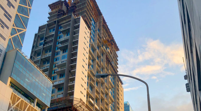 WORK RESUMES COVID-STYLE ON CAPE TOWN HIGH-RISE