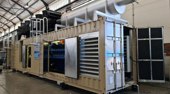 LARGE CUSTOMISED GENSET FOR PLATINUM MINE