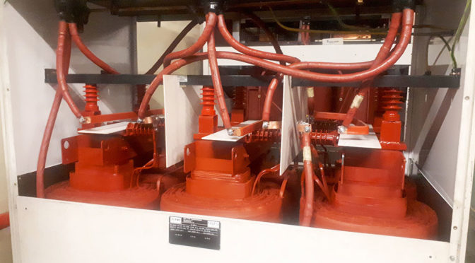DRY TYPE REACTOR FROM TRAFO SAVES POWER FOR SA BANK