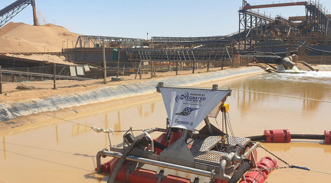 WEST COAST MINER INSTALLS SLURRYSUCKER FOR POND DREDGING